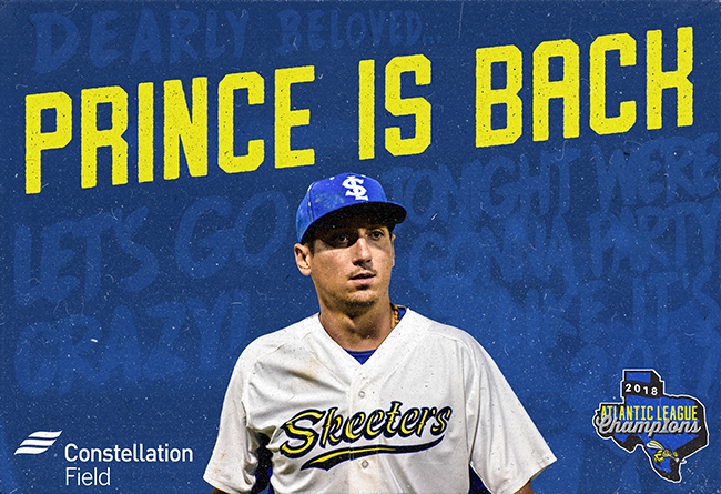 Former Major Leaguer Josh Prince Returns to Skeeters as Player-Coach