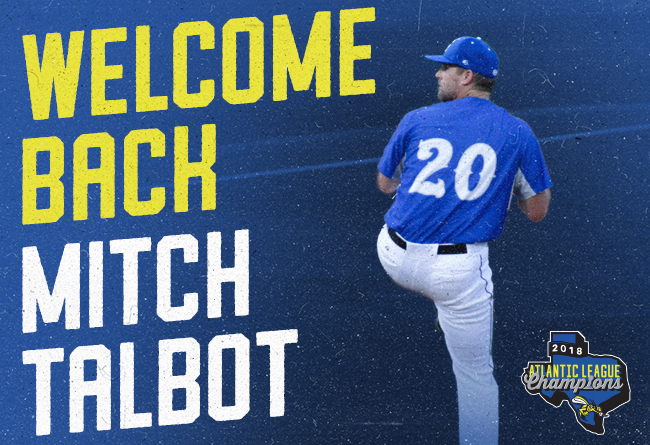 Skeeters Re-Sign Former Major League RHP Mitch Talbot