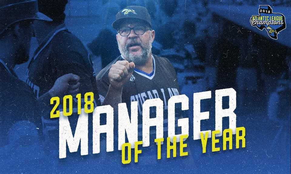 Pete Incaviglia Named Atlantic League Manager of the Year