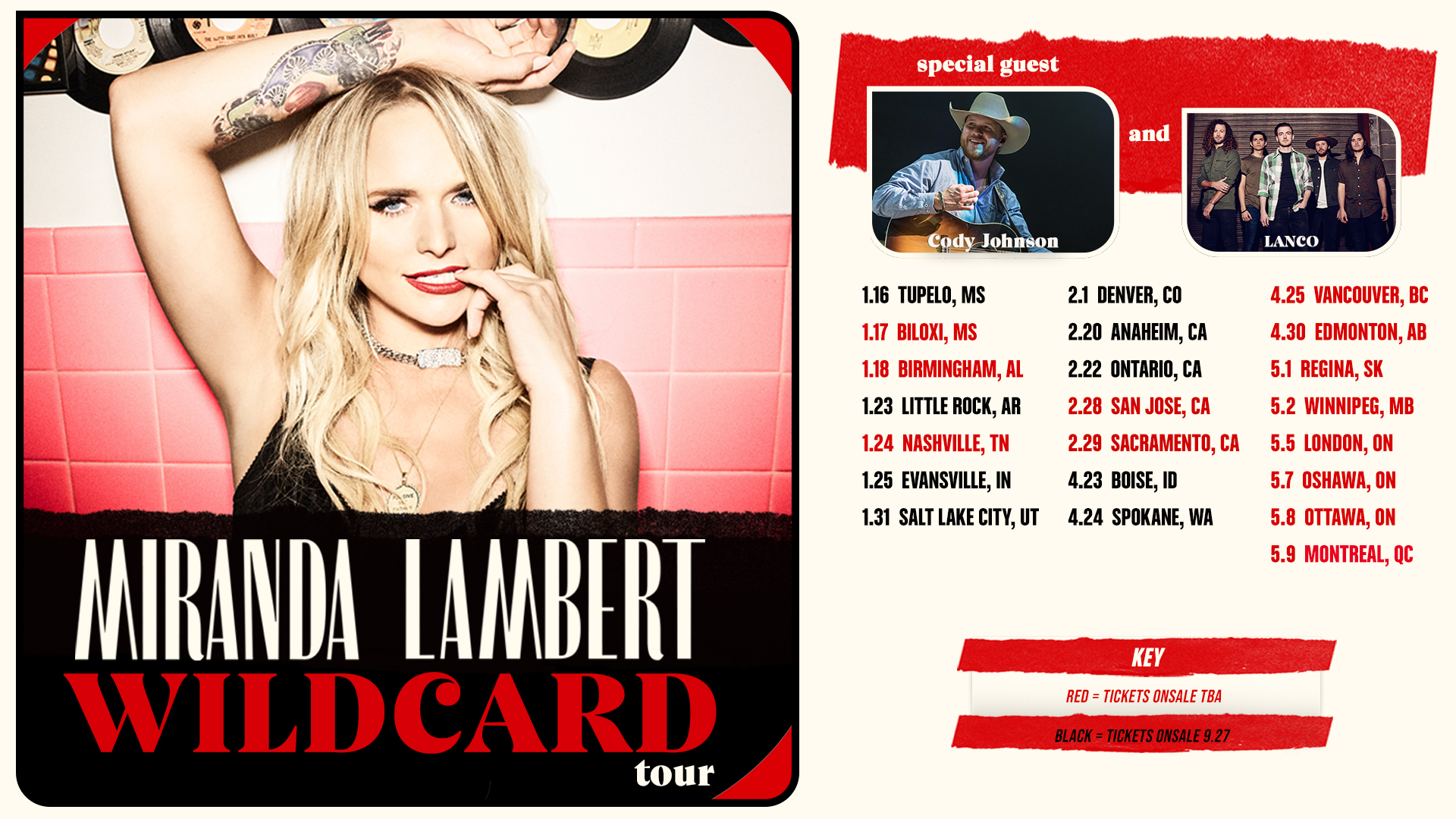 Fan Club Presale for 2020 Tour Dates with Miranda Lambert