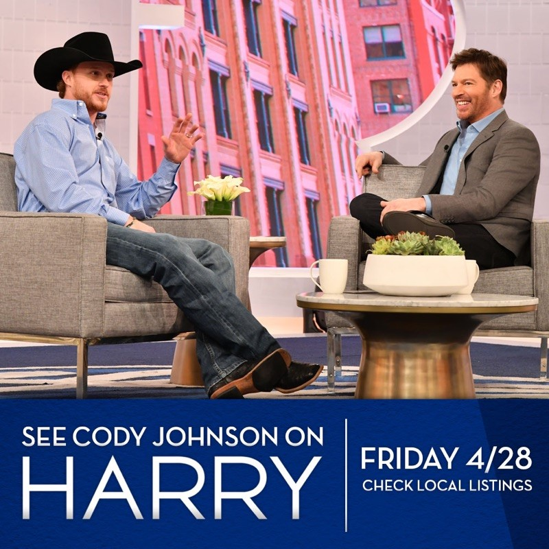 Cody Johnson to Make National Daytime Television Debut on Harry, April 28
