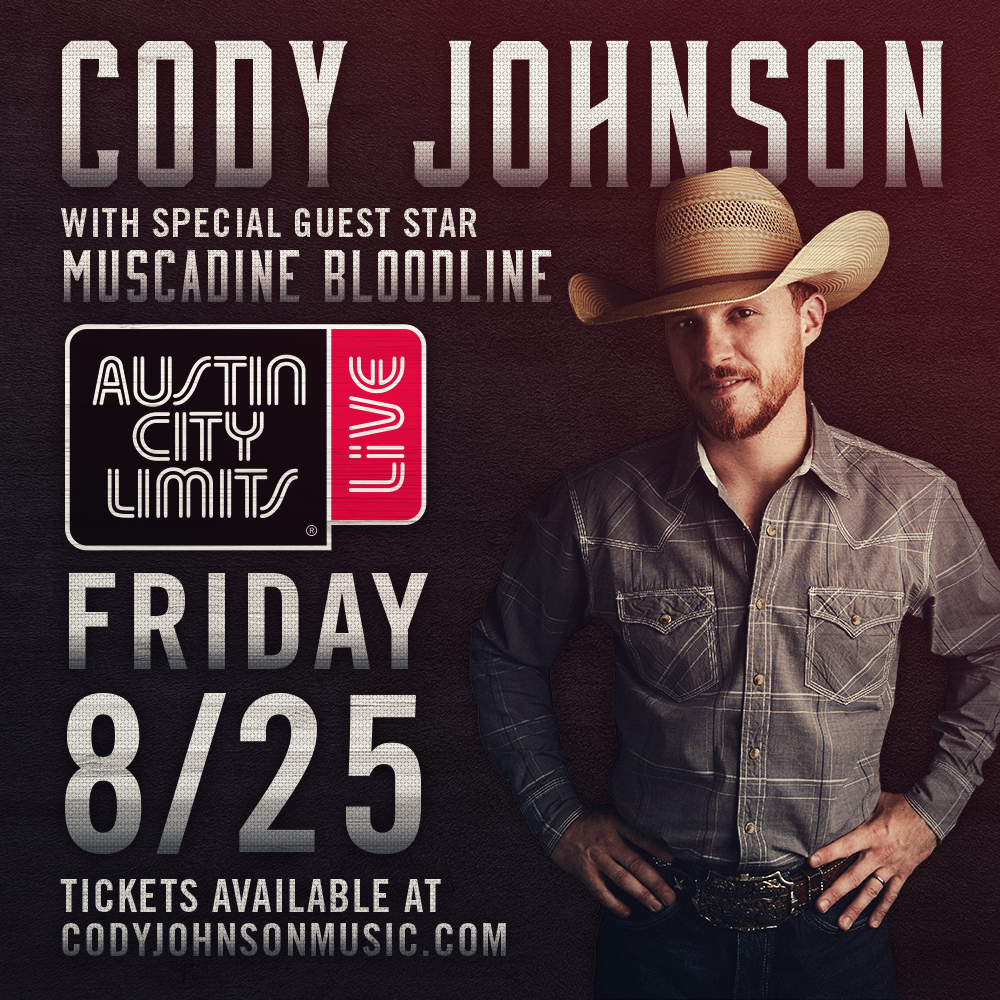 Cody Johnson to Appear on Austin City Limits