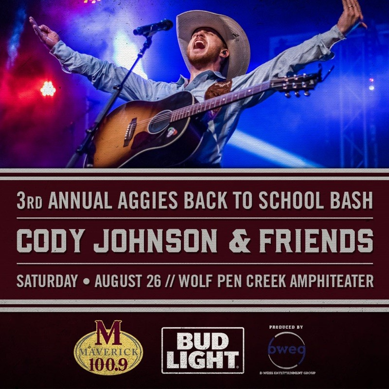 Cody Johnson to Headline Back-to-School Aggie Bash