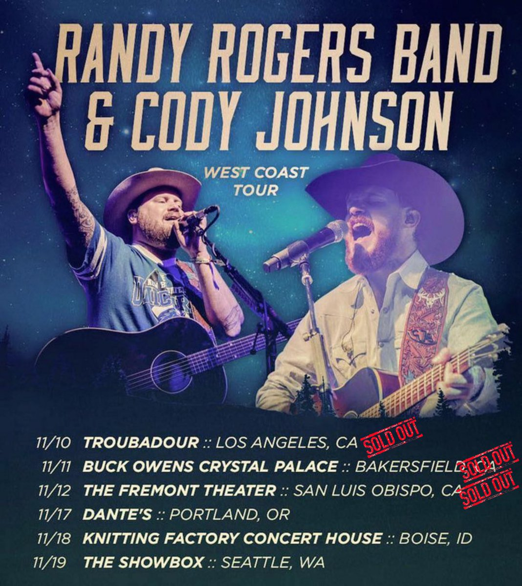 Hitting The West Coast With The Randy Rogers Band!