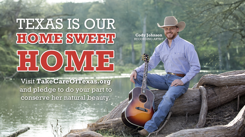 Take Care of Texas public service announcement features Cody Johnson
