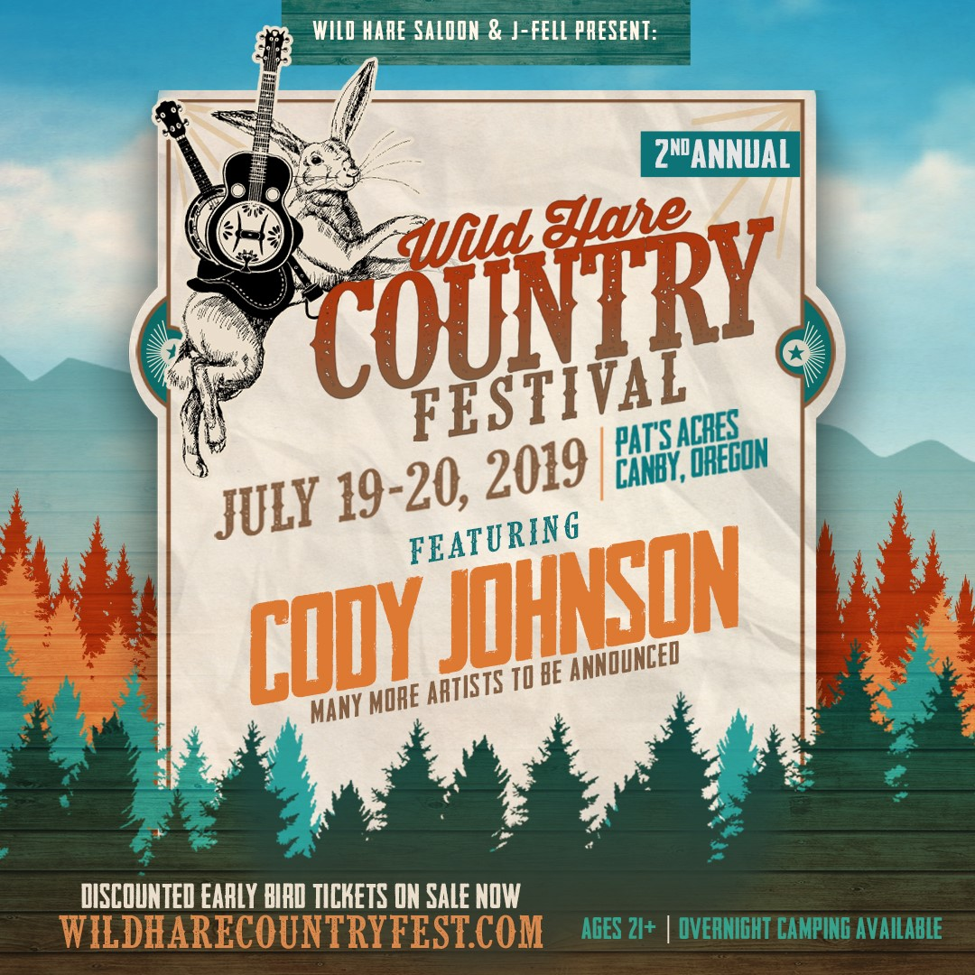 Fan Club Presale for the Wild Hare Country Festival June 19-20, 2019