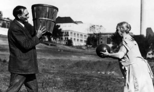 Massachusetts_MA_Titan_15 James Naismith, a Canadian PE teacher, invented basketball so his students could play sports indoors.