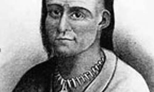 Ohio_State_Titan_2 Chief Little Turtle of the Miami Tribe, shown here, and Blue Jacket of the Shawnee Tribe, led forces against the U.S. Army that gathered at Fort Hamilton, in an effort to maintain their homeland. PROVIDED (Staff Writer)