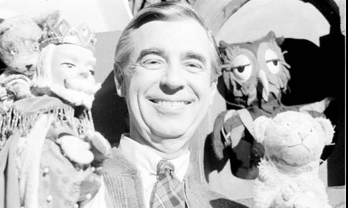 Pennsylvania_PA_Rogers_Titan_1 Fred Rogers rehearses with some of his puppet friends in Pittsburgh on Jan. 4, 1984. (AP Photo/Gene J. Puskar, file)