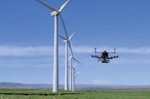 Wind_Energy_Drones_Green_Titan_1 SkySpecs drone in flight. Credit: SkySpecs.