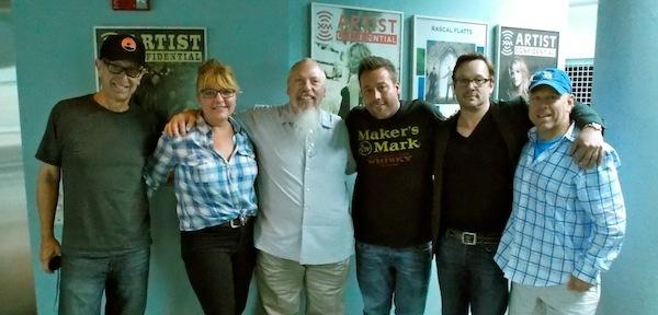 Uncle Kracker visiting the Sirius/XM studios in Nashville