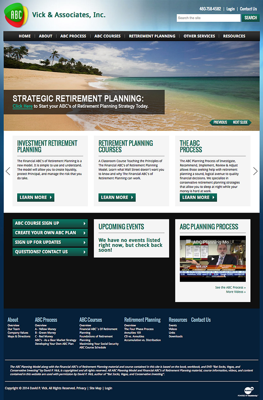 ABC Retirement Program Website