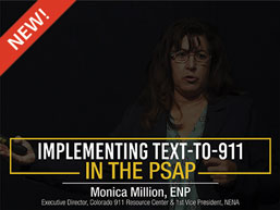 Implementing Text-To-911 in the PSAP