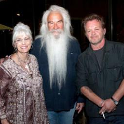 William Lee Golden and Emmylou Harris at opening art reception for Joh