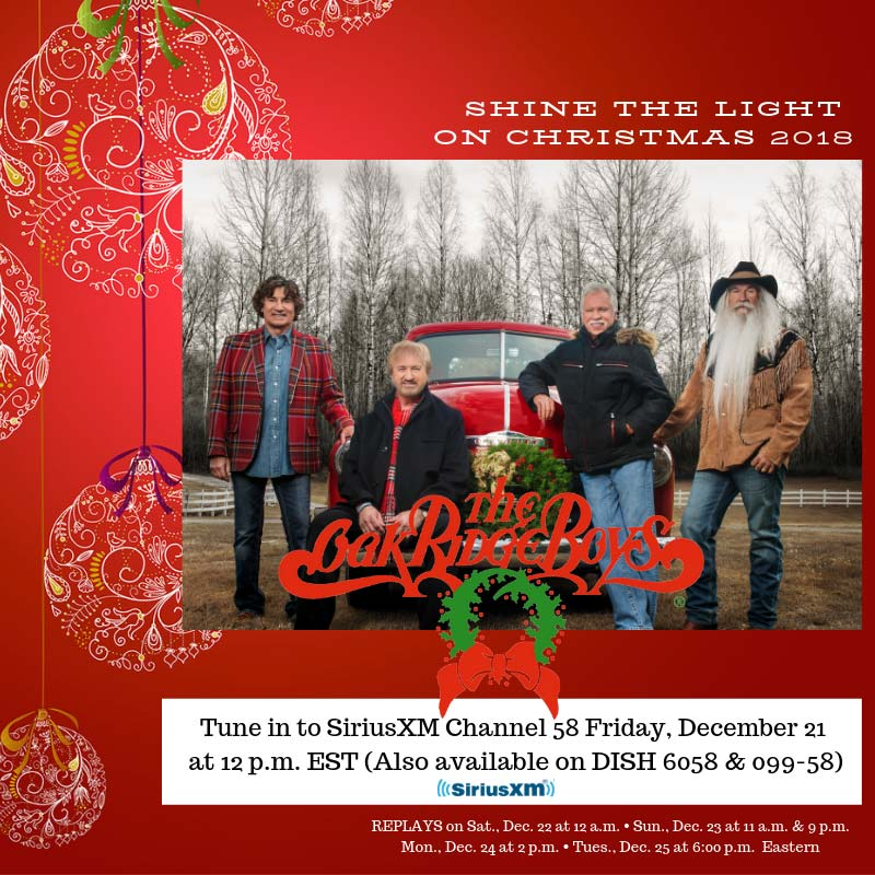 The Oak Ridge Boys Shine The Light Christmas Tour 2018