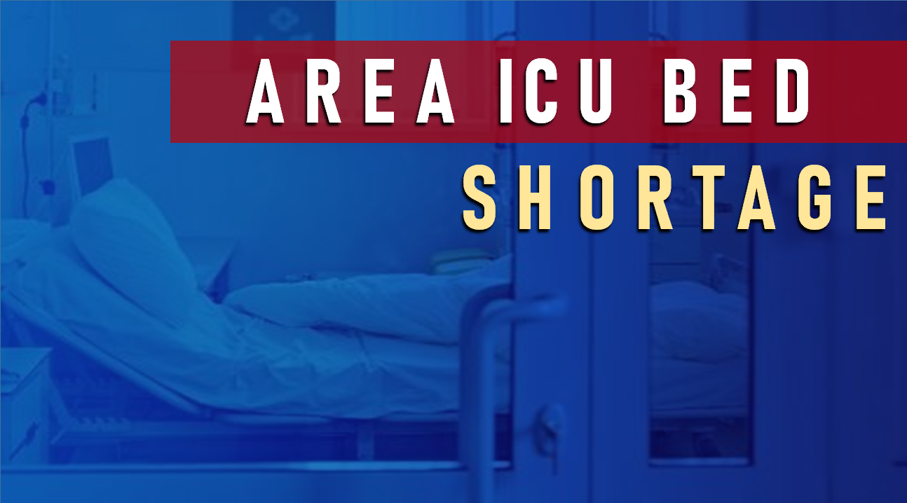 Area ICU Capacity Drops Back into the Teens as Local COVID Cases Continue to Climb