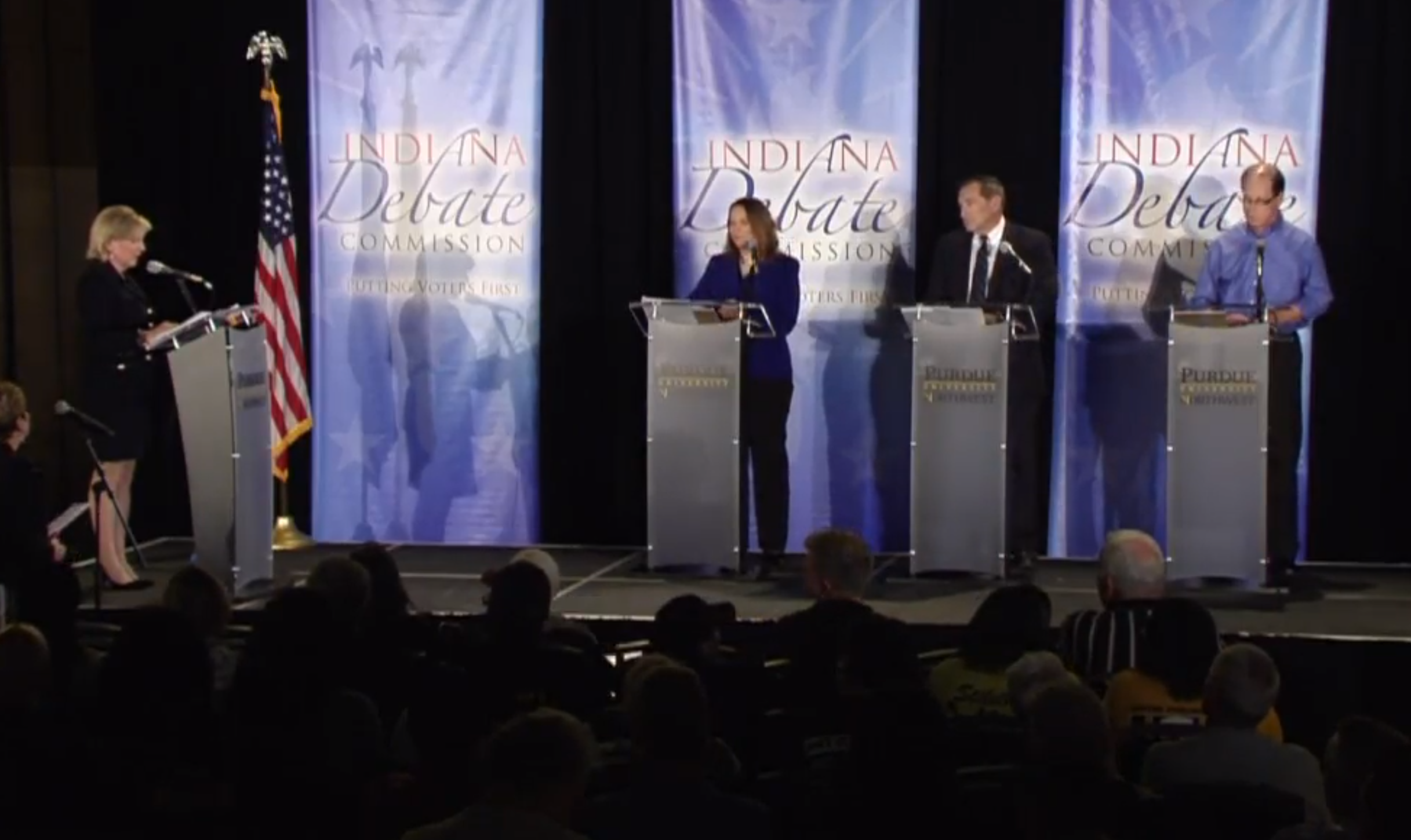 U.S. Senate Candidates From Indiana Did Battle on the Debate Stage Monday Night