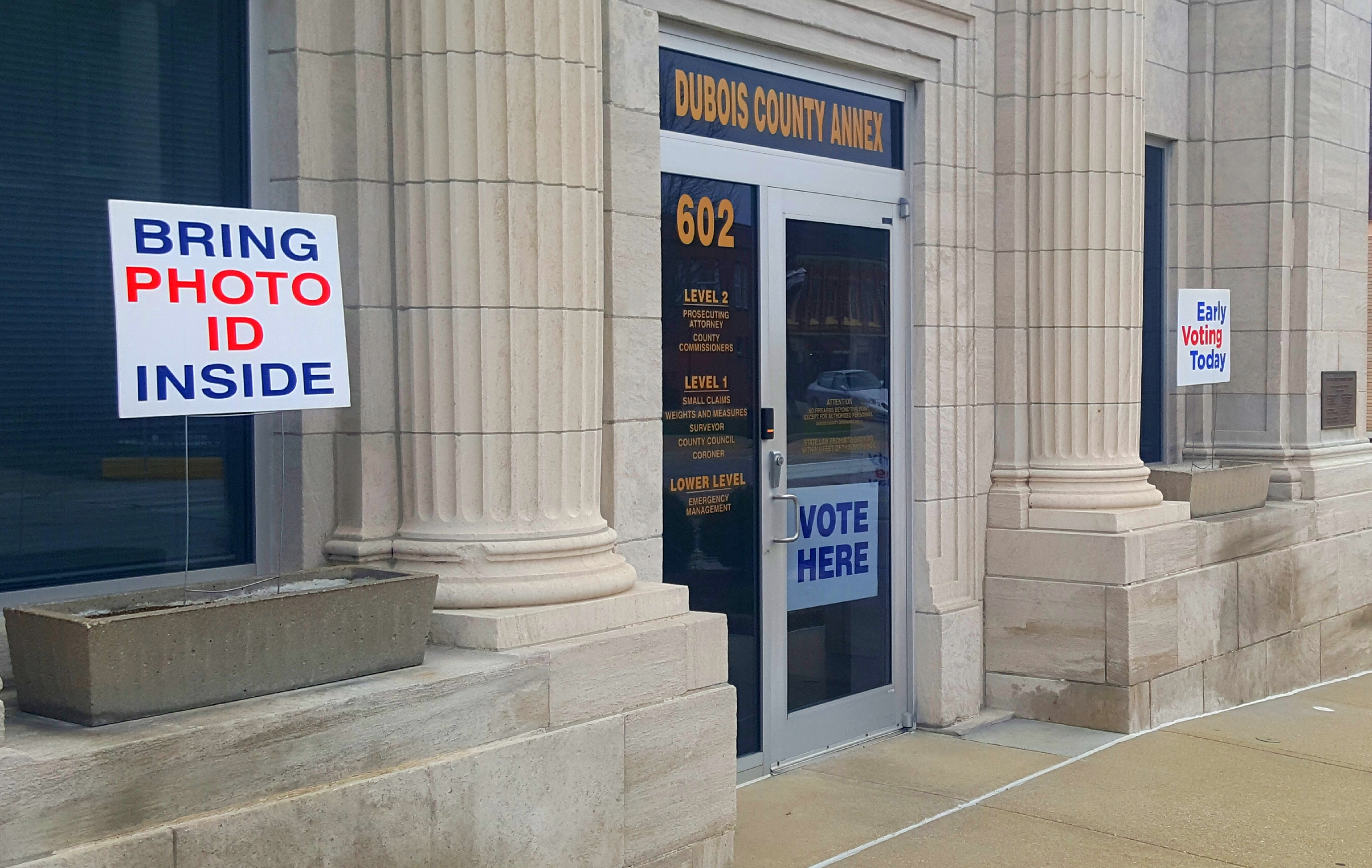 200 Dubois County Voters Have Cast an Early In-Person Ballot in Next Week's Primary