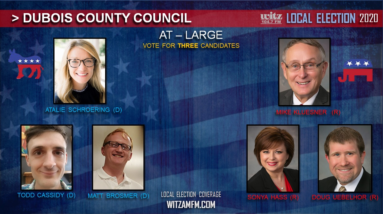 ELECTION 2020: Six Candidates Running in Dubois County Council Race