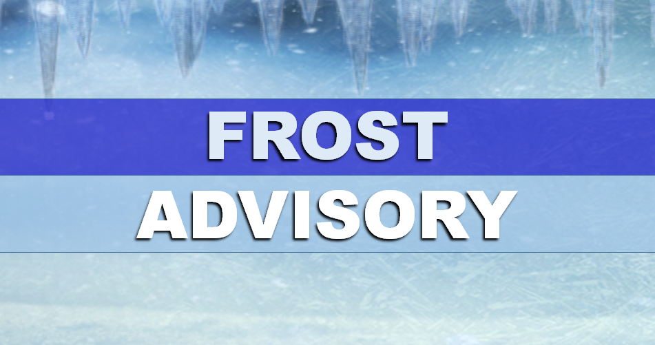 ALERT:  Frost Advisory in Effect Early Tuesday Morning