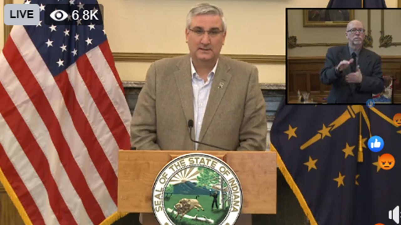 Gov. Holcomb Announces Local Counties Have Raised Over $2.2 Million for Crisis Response Fund