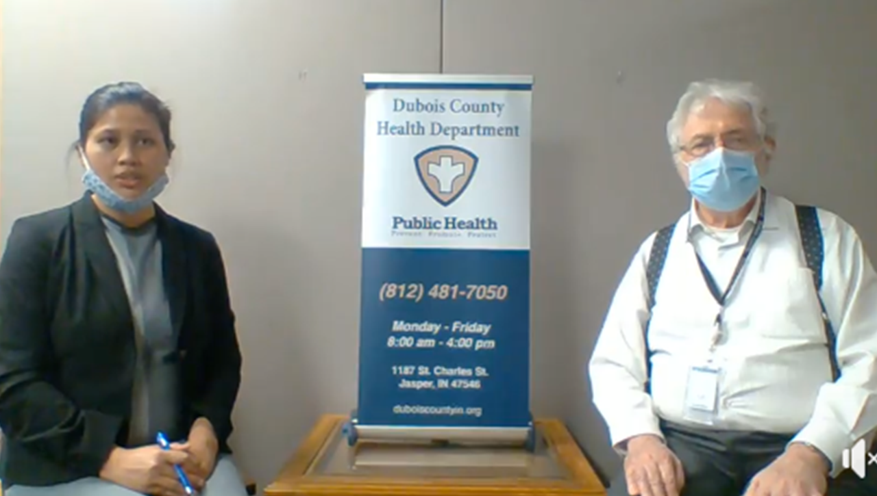 WATCH: Dubois County Officials Discuss County's First COVID-19 Death