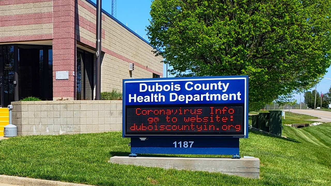 Five New COVID-19 Cases Bring Dubois County's Total to 35.  22 Have Reportedly Recovered