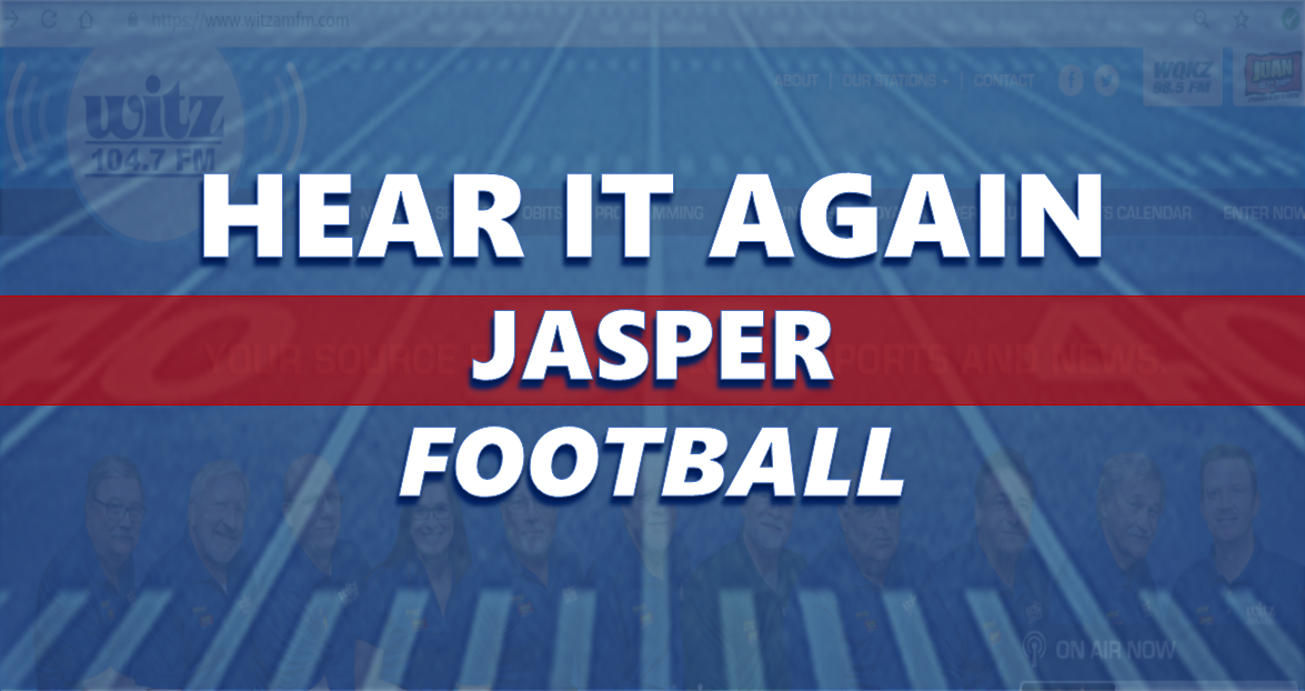 Hear It Again: Jasper Football vs Northview 10/25/19