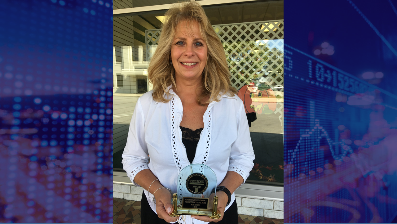 Jasper Chamber Awards Kim Lottes With 2020 President's Community Excellence Award