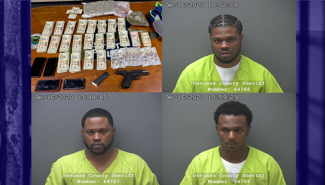 More Than a Pound of Marijuana, Loaded Gun and Thousands of Dollars in Cash Recovered Following Traffic Stop