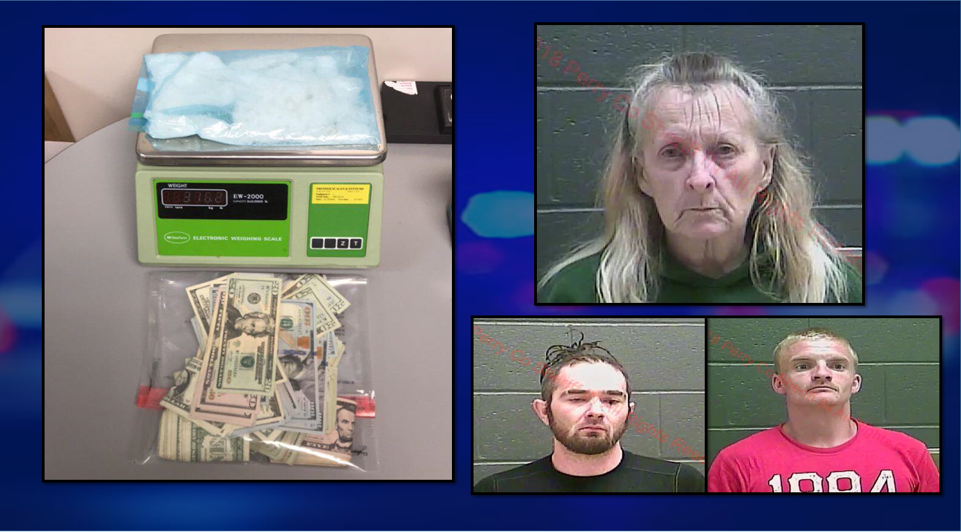 62-Year-Old Huntingburg Woman Charged With Dealing Meth, Two Jasper Men Also Charged