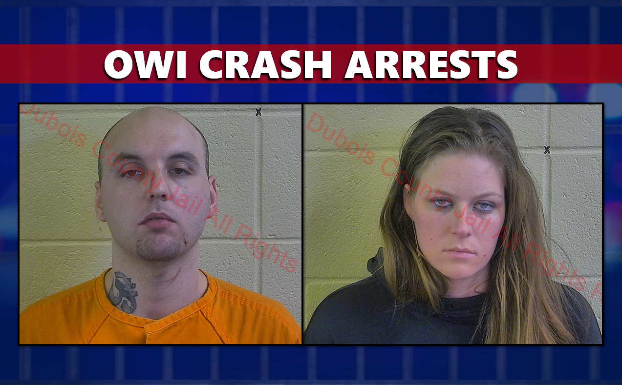 Crash Totals Vehicle and Lands Two in Jail on Various Charges