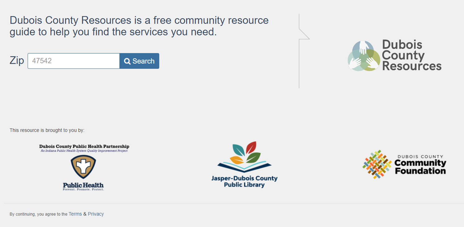 Dubois County Officials Launch Website to Connect Residents With Support Services