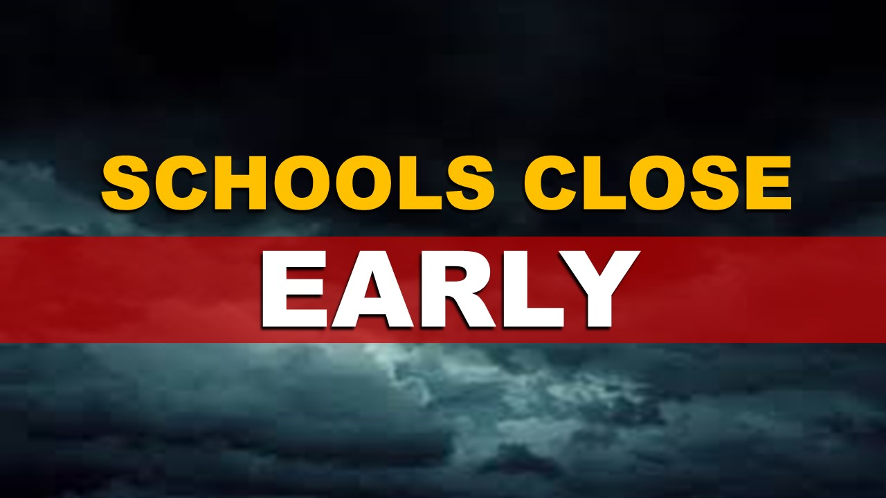 FULL LIST:  Area Schools to Close Early Due to Severe Weather Threat