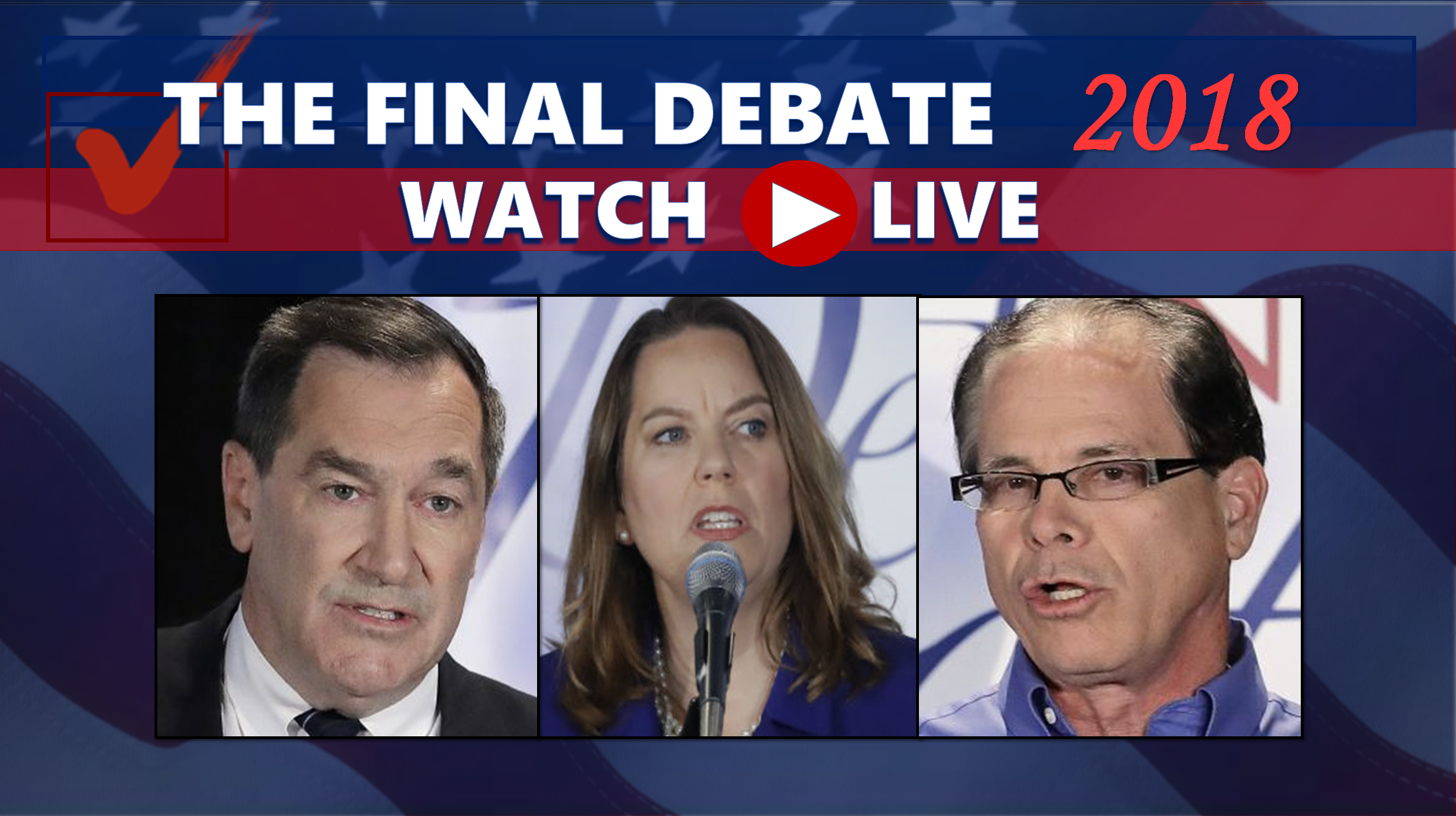 WATCH LIVE:  The Final U.S. Senate Debate Begins at 7 p.m. EDT