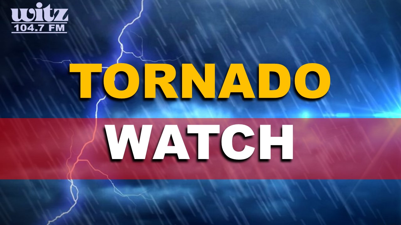 TORNADO WATCH ISSUED: Portions of Our Area Could See Severe Weather Tonight