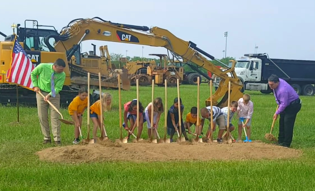 WATCH:  School Officials, Students Break Ground on New Jasper Elementary School