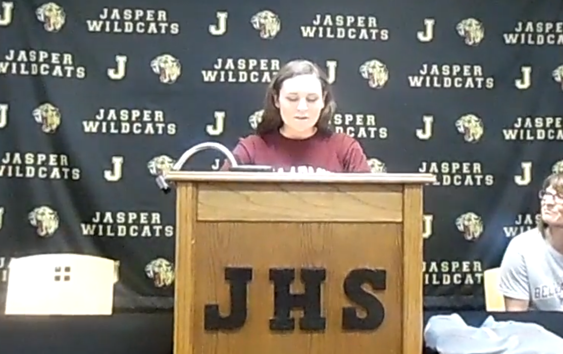Jasper Senior standout Grace Werner announces she will play softball at Bellermine.