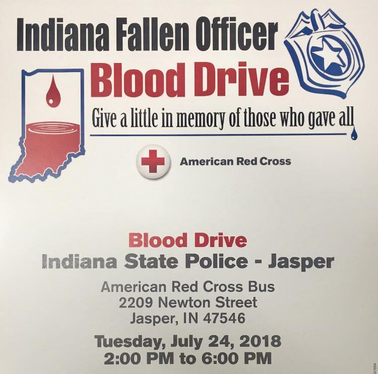 ISP Jasper Post to Host Red Cross Blood Drive Tuesday