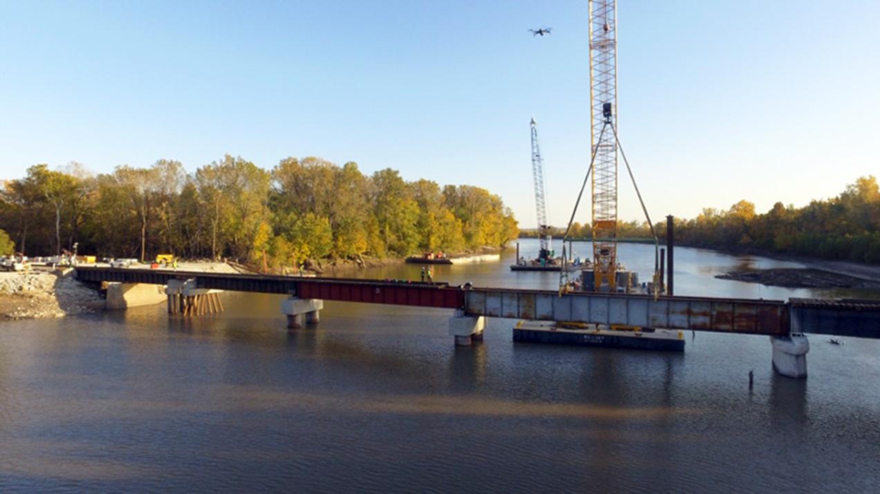 TWO MILE TRAINS:  Bridge Repair Should Ease Huntingburg's Train Troubles By Midweek