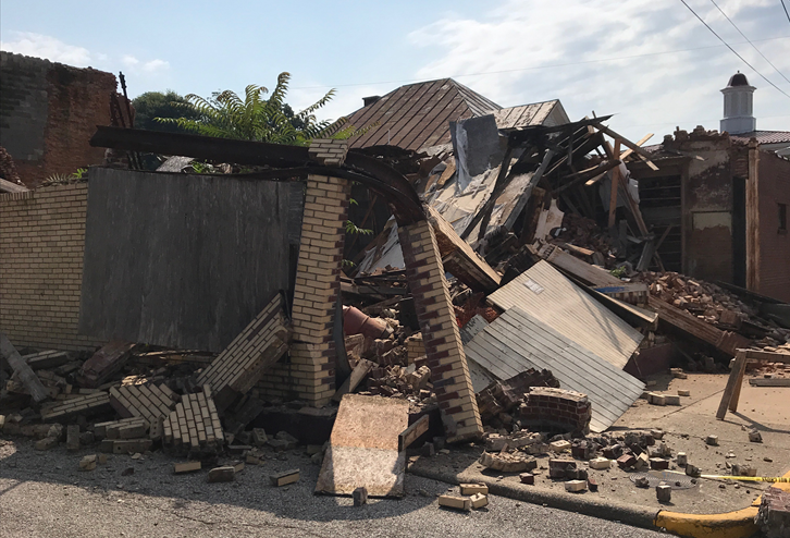 No One Was Hurt in Weekend Building Collapse in Cannelton