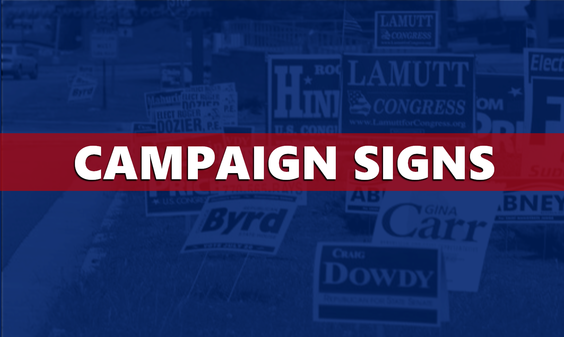 INDOT: Campaign Signs are Prohibited From State Right-of-Ways