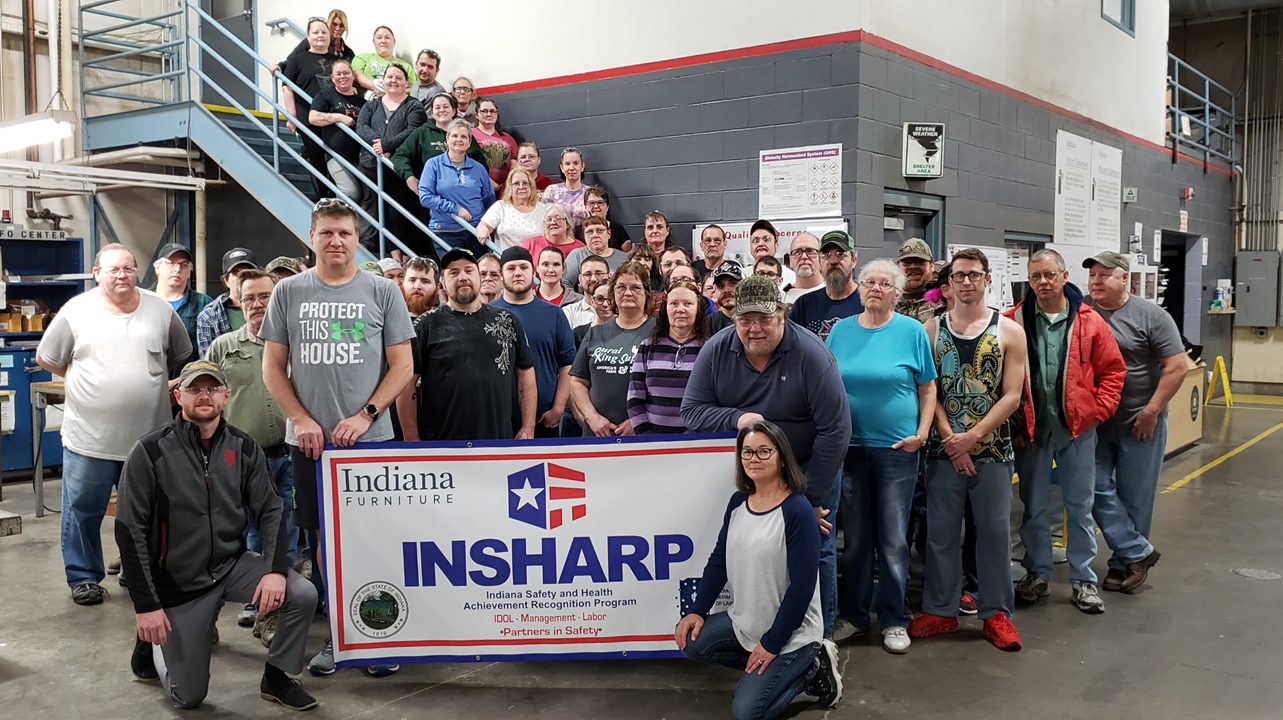 Indiana Furniture's Jasper Facility Receives State Health and Safety Certification