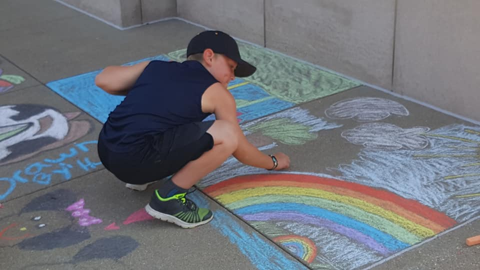 Chalk Walk Good For Artists, Kids and Local Businesses