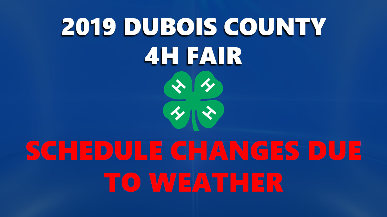 Threat of Rain From Barry Forcing Changes to This Week's Dubois County Fair Schedule