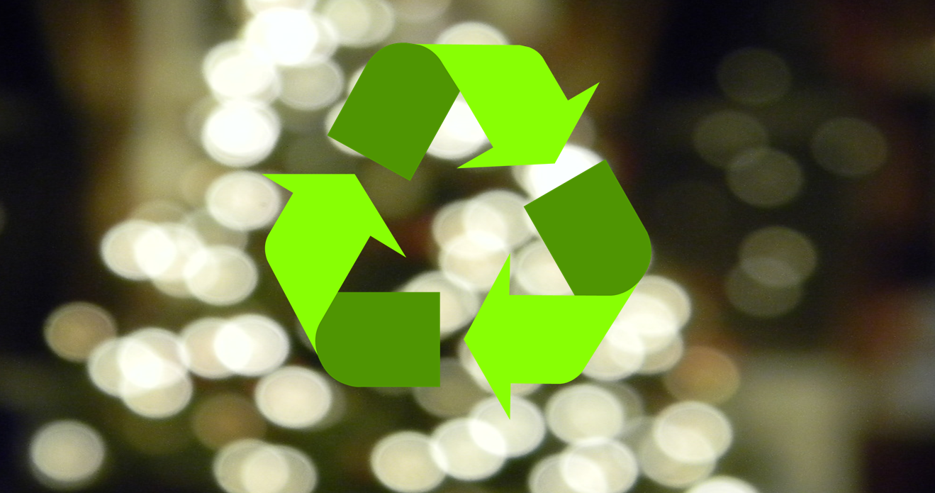 Last Weekend to Recycle your old Christmas Lights