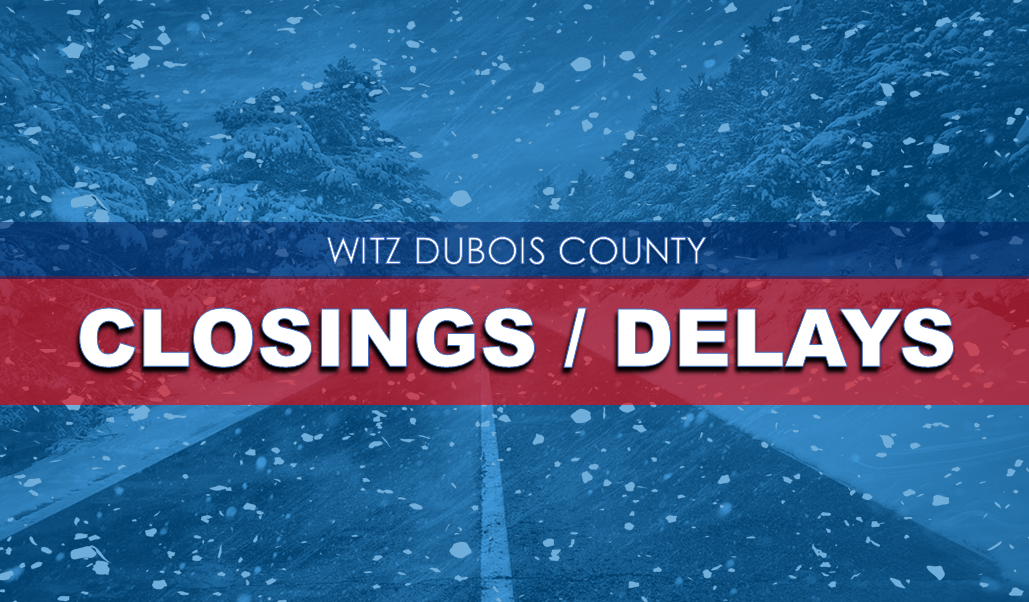 CLOSINGS AND DELAYS:  Friday, Feb. 1st