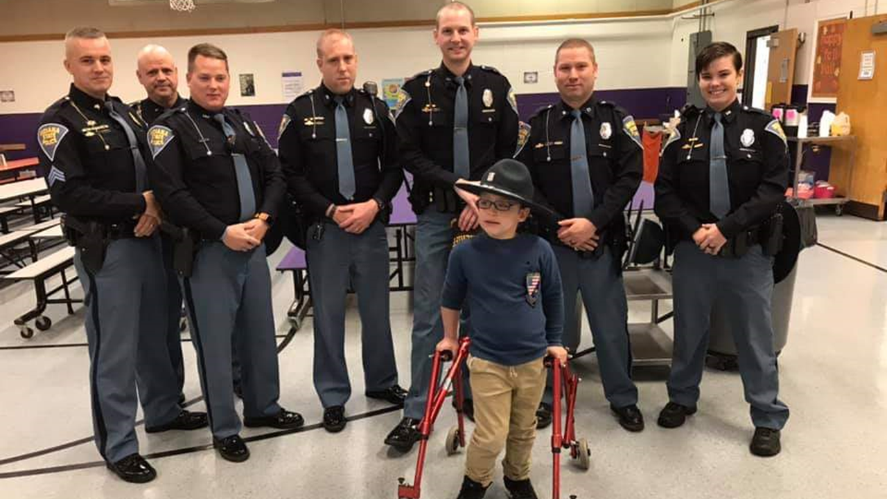 Cops Show Support to Local Make A Wish Recipient Before Trip to The Voice