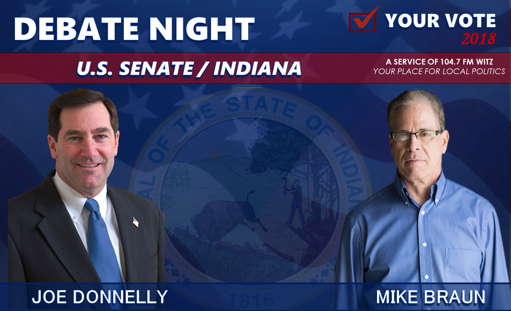 Donnelly and Braun to Debate Monday Night from Purdue University, How You Can Watch Here