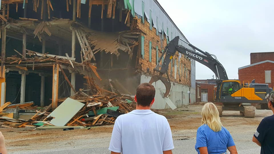 Demolition Begins on Hoosier Desk Building for New Cultural Center
